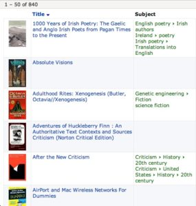 Screen shot of a Goodreads page