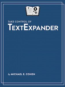 Purple cover of Take Control of TextExpander book