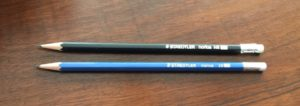Staedtler norica black HB and blue 2B pencils