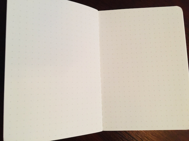 The BaronFig dateless pocket planner dot-grid pages