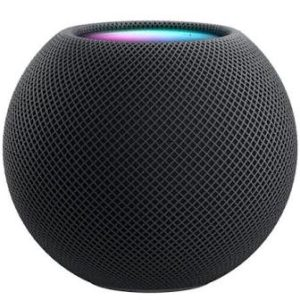 Image of a Space gray Apple HomePod Mini