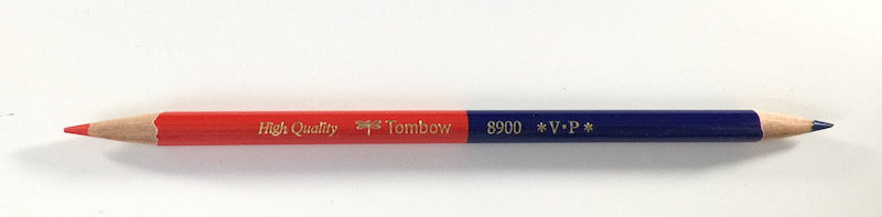 Tombow 8900 V. P Bicolor pencil red on one end and blue on the other